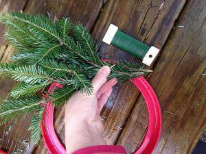 attach evergreens