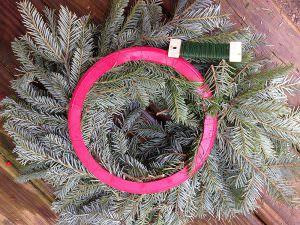 finish off the wreath
