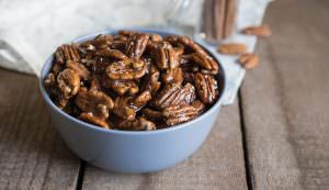 Spiced Caramel Pecans