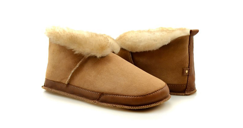 Fireside sheepskin slippers