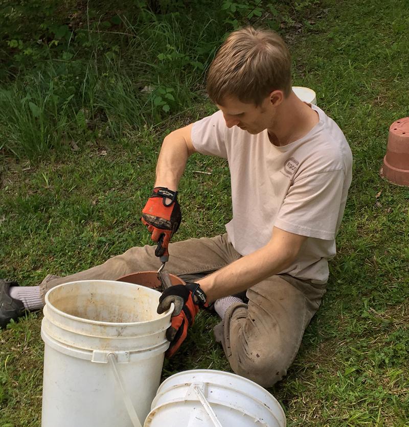 mixing soil