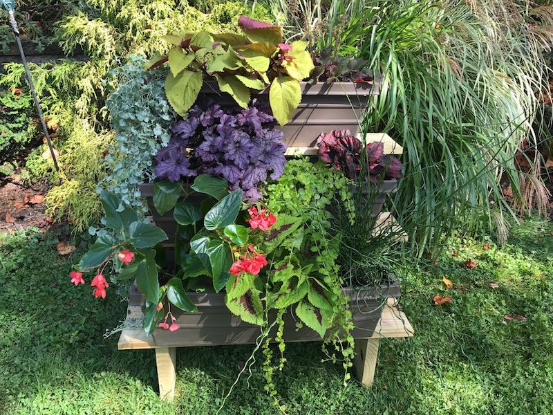 DIY planter shelf