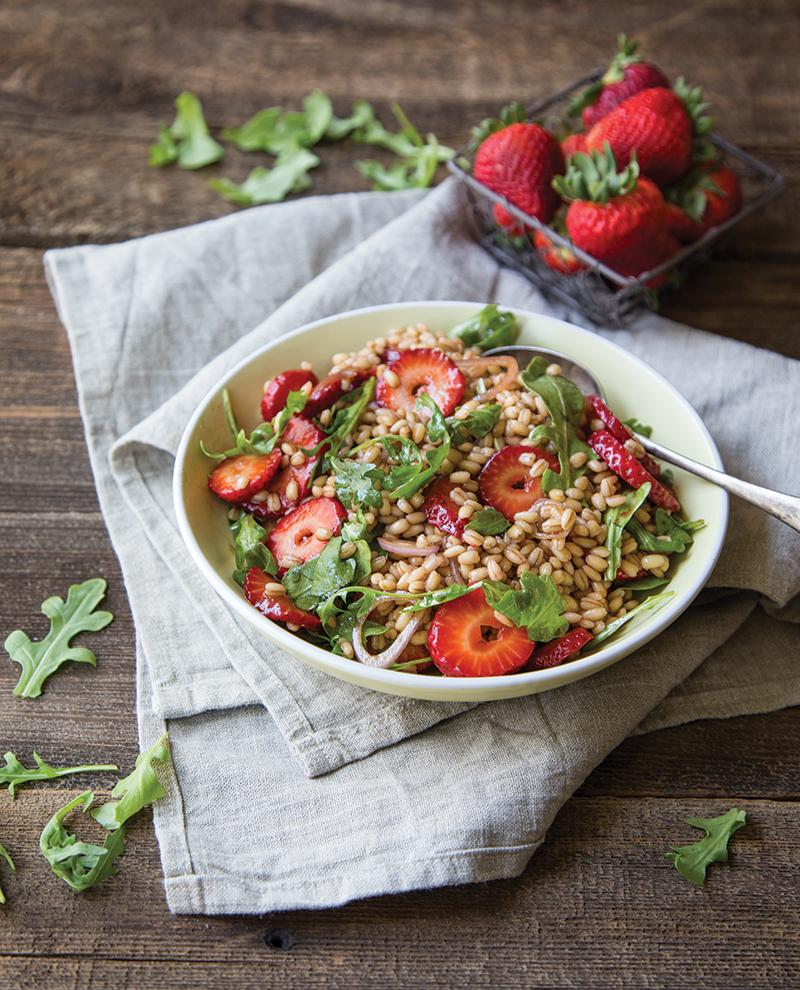 barley salad balsamic strawberries arugula