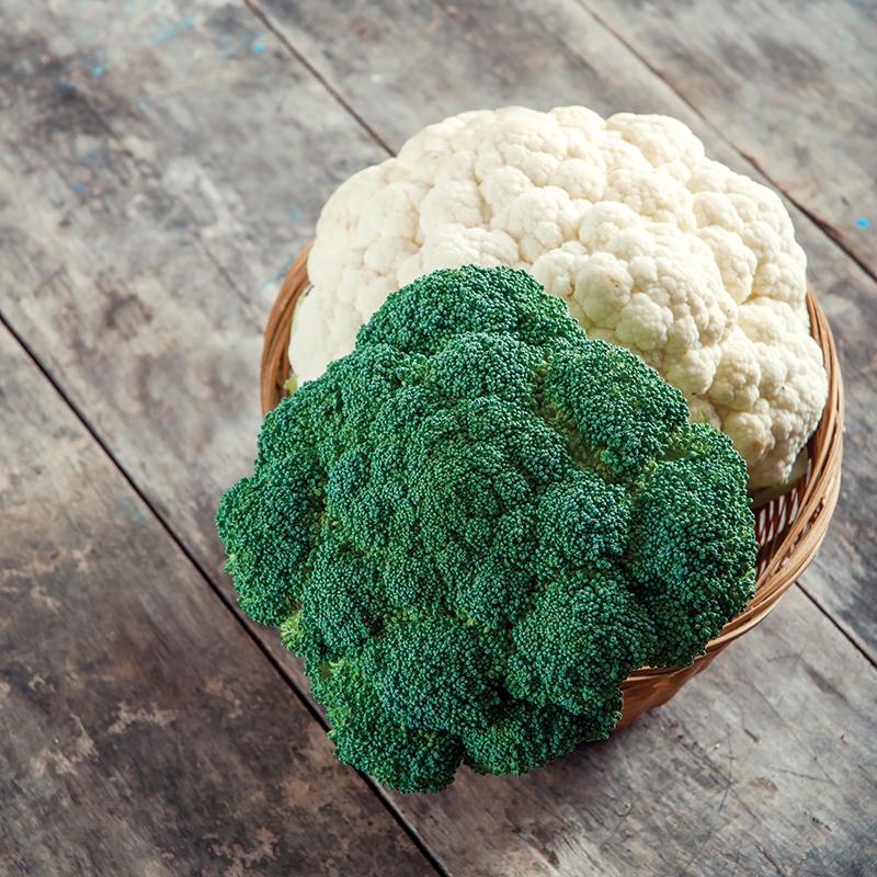 market crops broccoli cauliflower