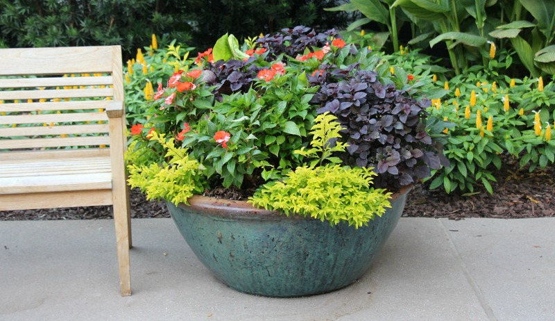 storing garden containers for the winter