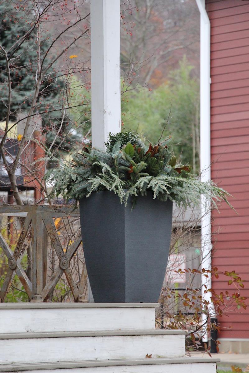 winter container decoration recipes