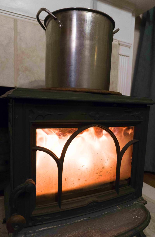 Karen Lanier wood stove