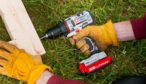 electric drill drills