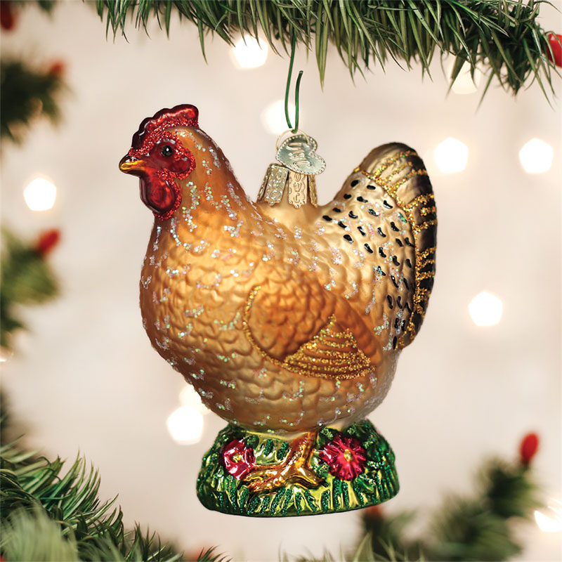 chicken ornament