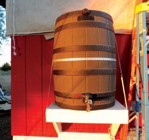 chicken coop water barrel