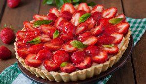 recipe glazed strawberry tart