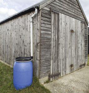 rain barrels dry farming water