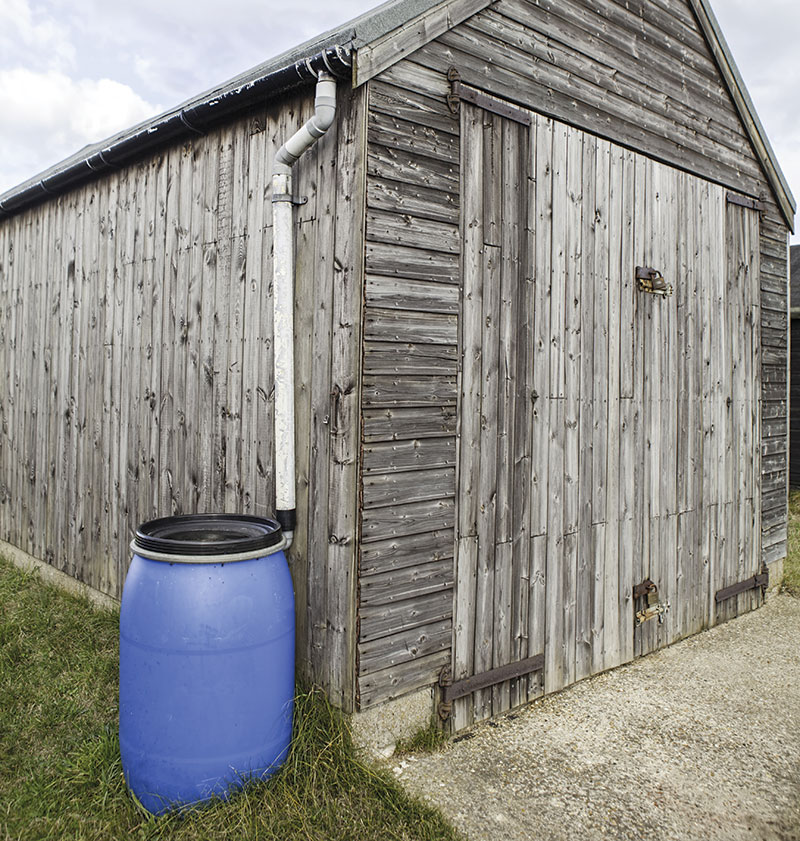 gardening off the grid rain barrel