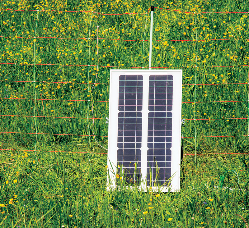 gardening off the grid solar panel