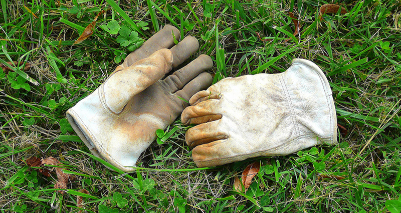 farm work hay gloves