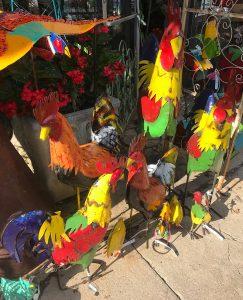 chickens everywhere yard art omaha