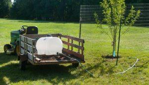 water leg tank irrigation