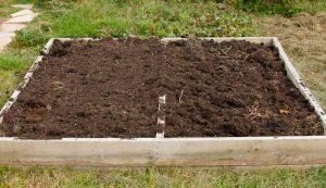 manure compost raised garden bed