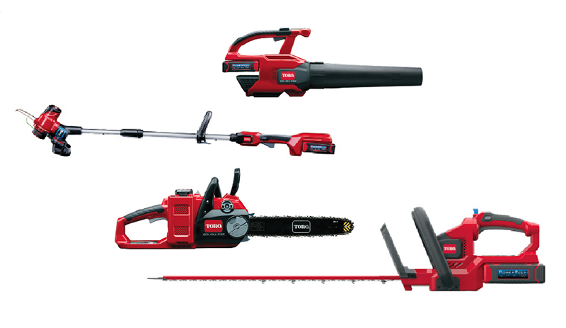 toro leaf blower trimmer clippers