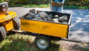 lawn mower tractor winter cart trailer wagon