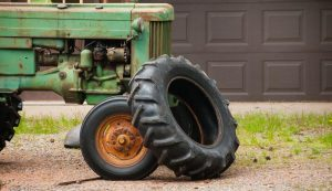 tire old tires tractor