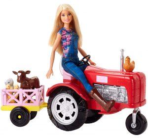 farmer barbie tractor