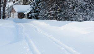 driveway snow winter