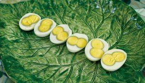 double-yolk eggs hard boiled