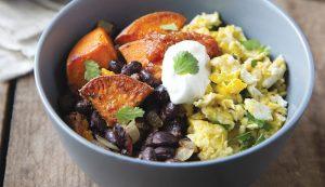 recipe breakfast bowl scrambled eggs sweet potatoes black beans
