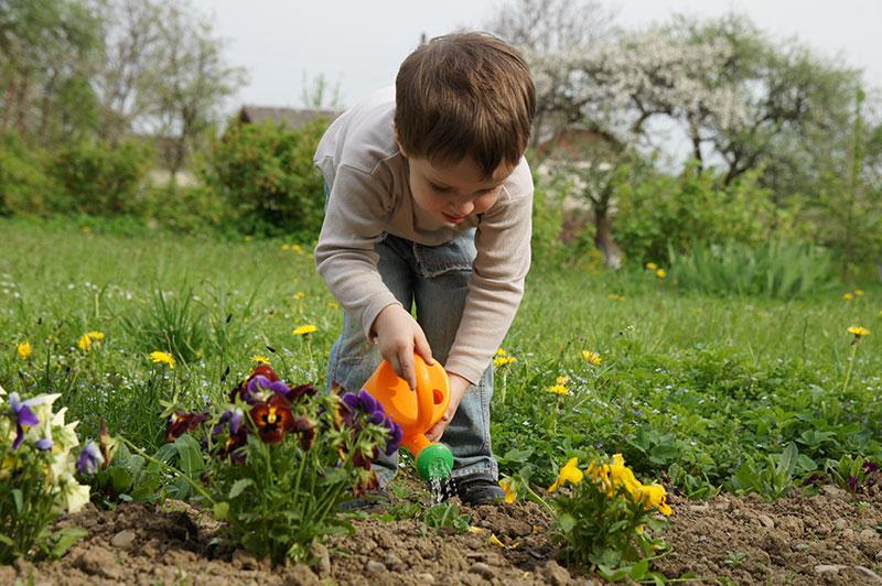 boy flowers natural landscape health nature makes us happier