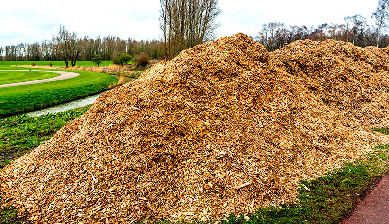 wood chips farm garden