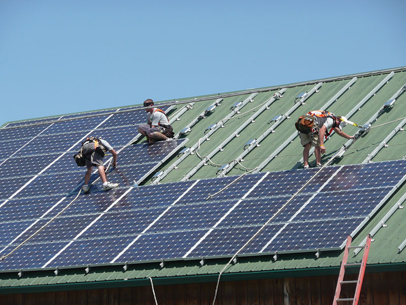 solar power panels installation renewable energy