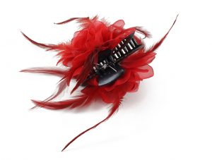 chicken feathers hair ornament feather