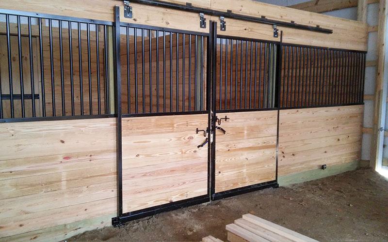 pole barns barn interior