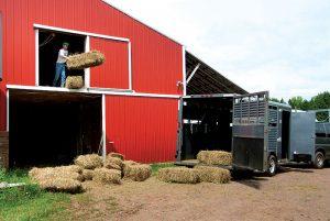 pole barns barn hay