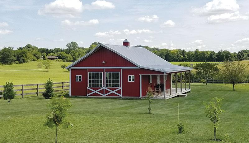 pole barns barn aerial view