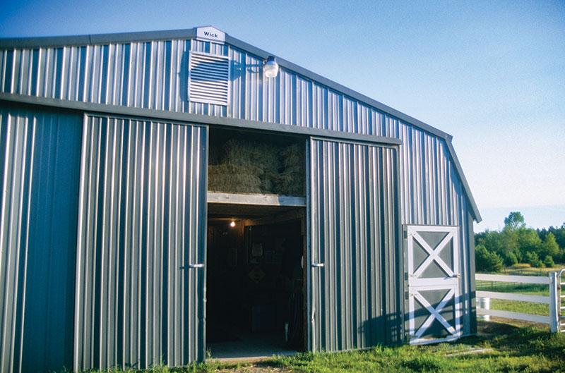 pole barns barn blue gray exterior
