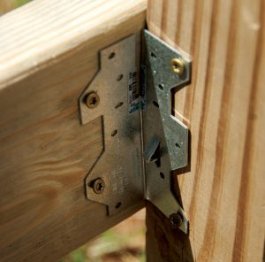 fence post anchor stone crib fencing