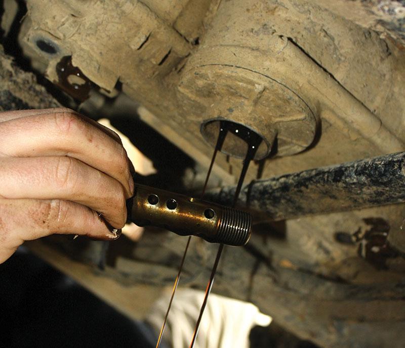 atv maintenance oil drain plug