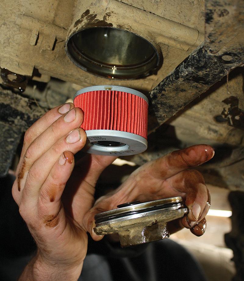 atv maintenance oil filter