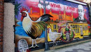 ybor city chicken rooster mural