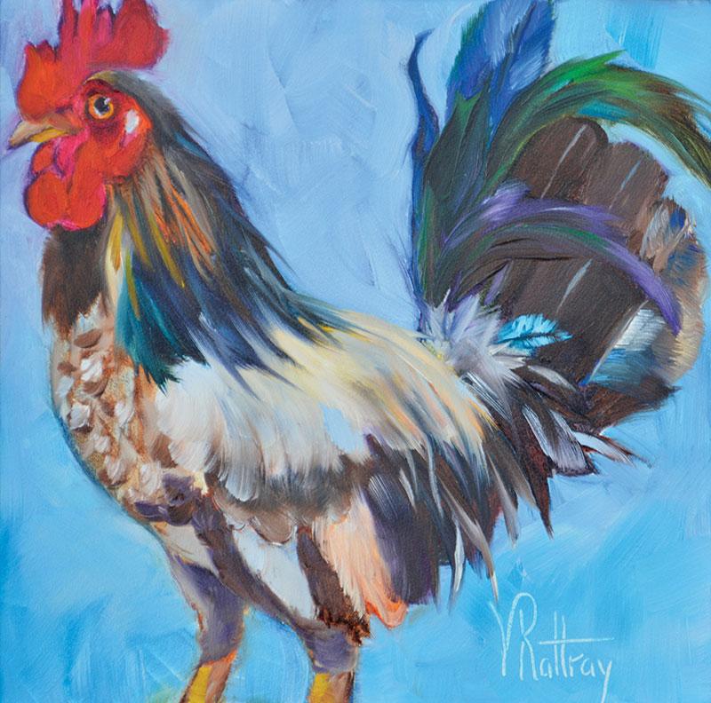 chicken painting eddie