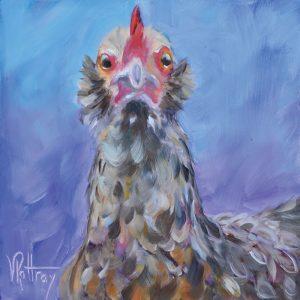 chicken painting Goldie