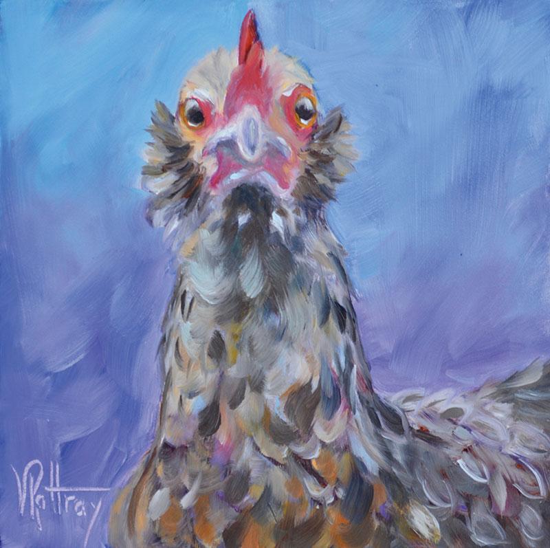 Ybor chickens painting Goldie