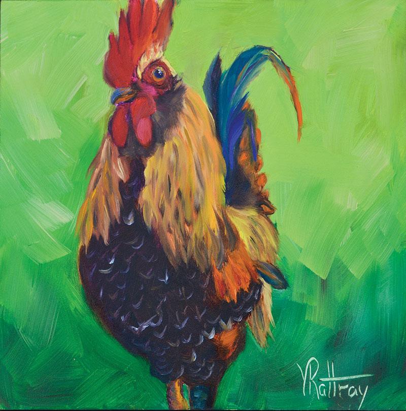 chicken painting king arthur