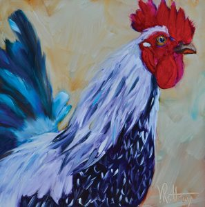 chicken painting lancelot