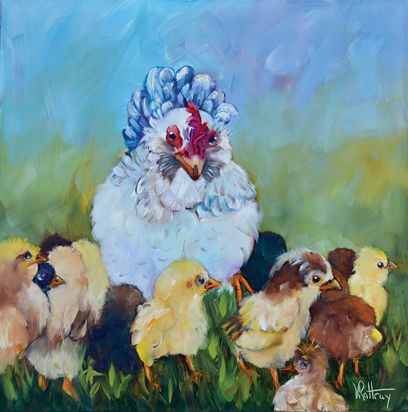 Ybor chickens painting lancelot