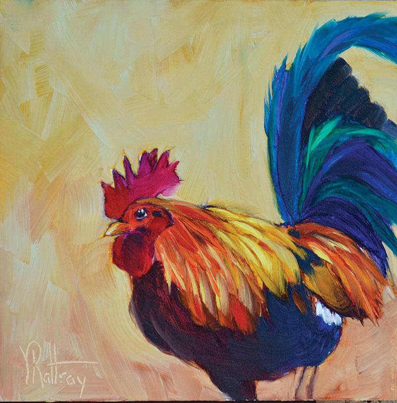 chicken painting phoenix