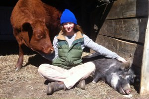 Kate with their animals