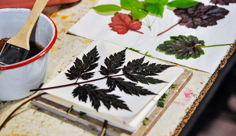 prints with leaves